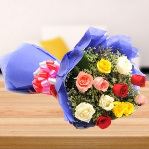 Mix 12 Roses Bunch