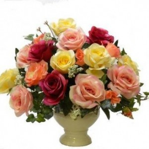 20 Mixed color Rose Flower