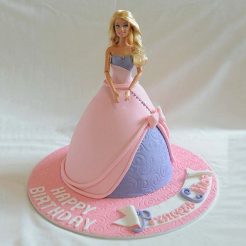 Groovy Online Barbie Birthday Celebration Cake Delivery In Meerut Funny Birthday Cards Online Fluifree Goldxyz