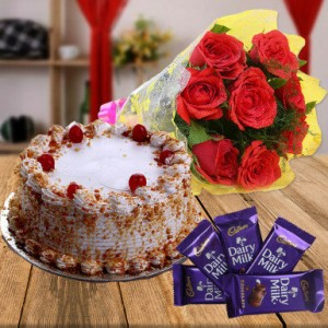 Awesome Combo Cake Flower Chocolate