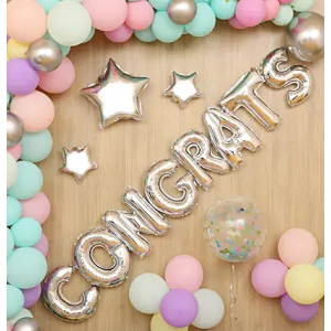 Congrats Party Balloon Decor