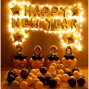 New Year Balloon Decor