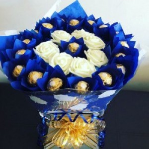 Blue Chocolate Bouquet