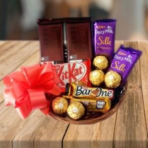 Branded Chocolate Basket Combo