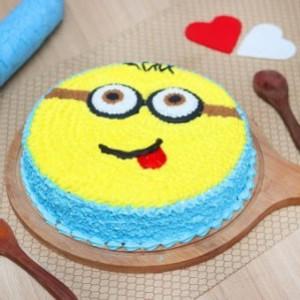 Goofy Minion Cake
