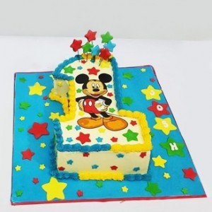 Micky Mouse Number One Cake