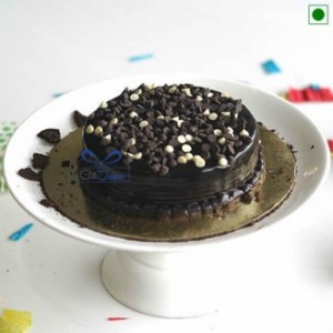Chocolate Cake with Chocochip on Top