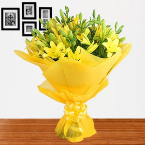 Yellow Lilies Bunch