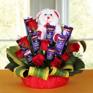 Teddy & Chocolate Bouquet