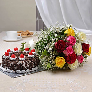 Flowers Cake Hamper