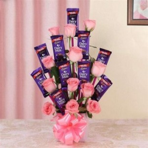 Chocolate and Flower Bouquet