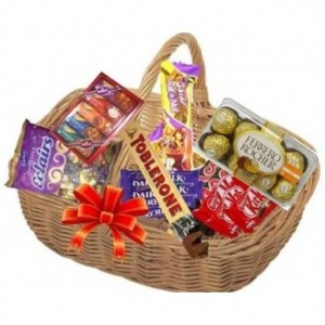 Chocolate Basket With Ferrero Rocher