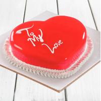 Scrumptious Heart Shape Cake