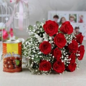 12 Rose and Gulab Jamun