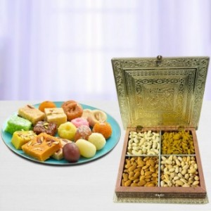 Designer Dry Fruit Box and Sweets