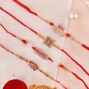 Four Unique designer Rakhi Set
