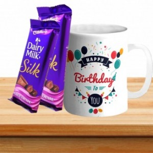 Happy Birthday Mug With Dairy Milk Silk Chocolate