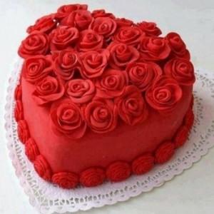 Heart Shape Red Valvet Cake