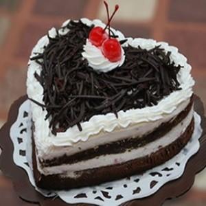 Heart Shape Black Forest Cake