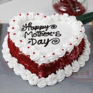 Mothers Love Heart Shape Cake