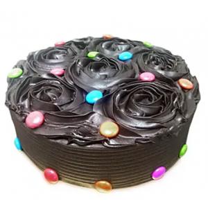 Flowery chocolate Cake