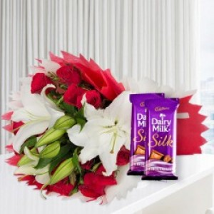 Lovely Flowers and Chocolate
