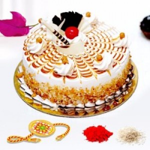 Rakhi With Butterscotch Cake