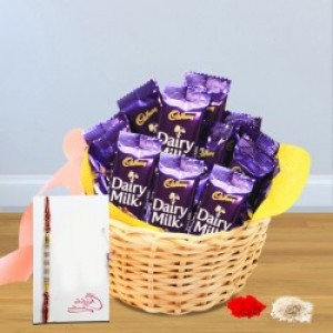 Kids Rakhi With Chocolate Basket