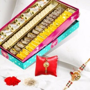Rakhi With Kaju Sweet Box