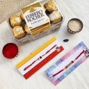 Ferrerro Rocher with Rakhi