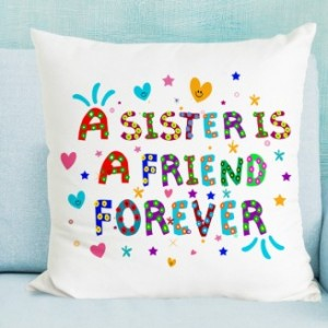 Sister is Friend forever Cushion with Filler