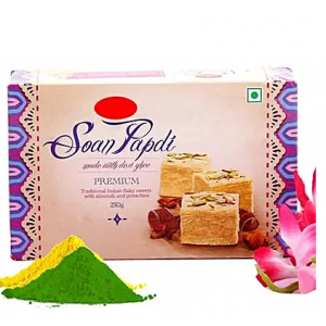 Soan Papdi and Gulal